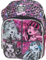 "Monster High Large 16"" Cloth Backpack Book Bag Pack - Ghouls"