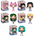 Funko Pop! Animation Sailor Moon Chibi Moon, Saturn, Neptune, Uranus, Pluto Bundle Vinyl Figures