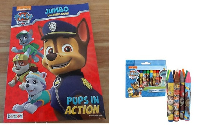 Paw Patrol Jumbo Coloring Book Pups In Action 12 Crayons Bundle