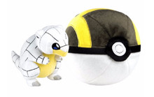 Pokemon Alolan Sandshrew & Ultra Ball Pokeball Plush