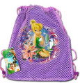 Disney Fairies Tinkerbell Purple Drawstring Bag