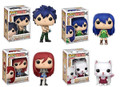 Funko Pop! Animation Fairy Tail Gray Fullbuster, Erza Scarlet, Carla, Wendy Marvell Vinyl Figures Bundle