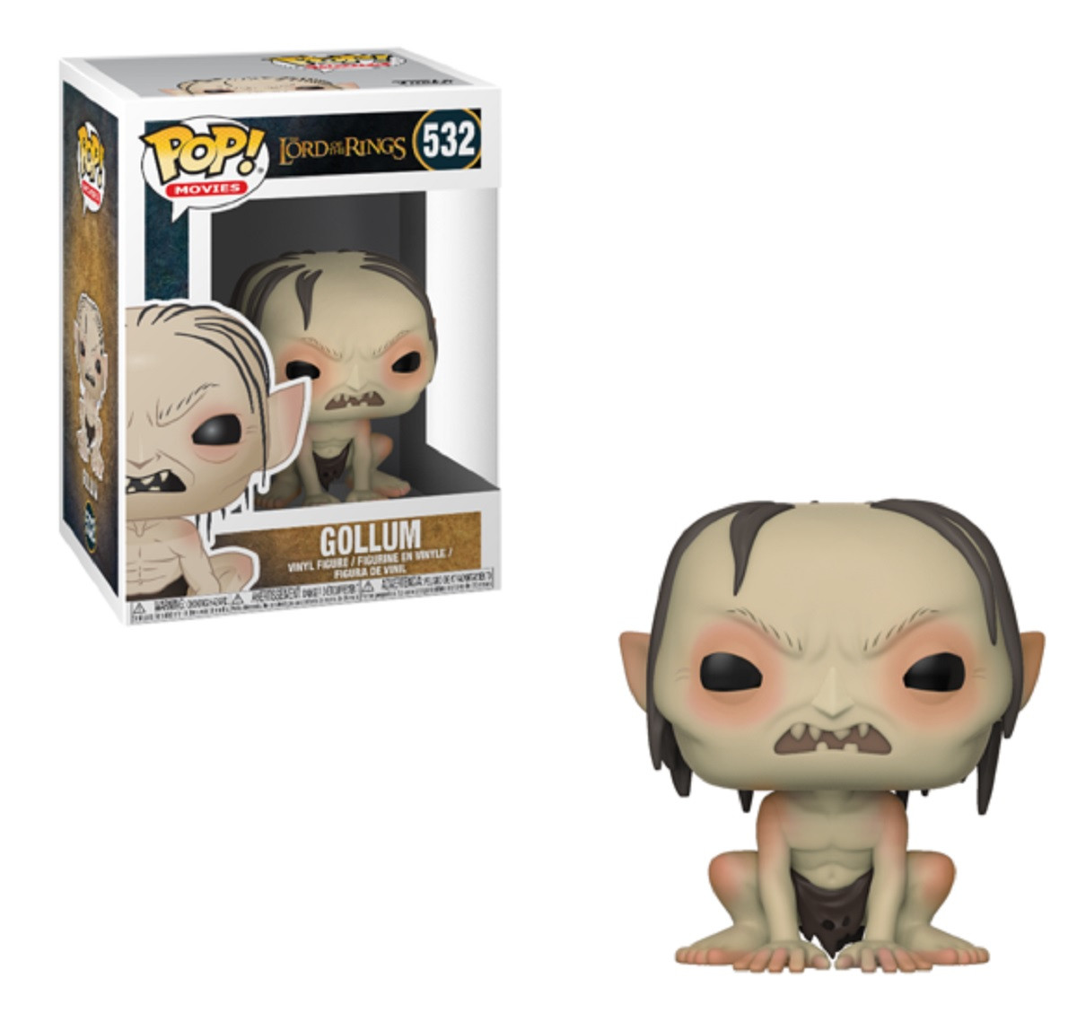 Funko Pop! Movies Lord f the Rings Hobbit Gollum Vinyl Figure
