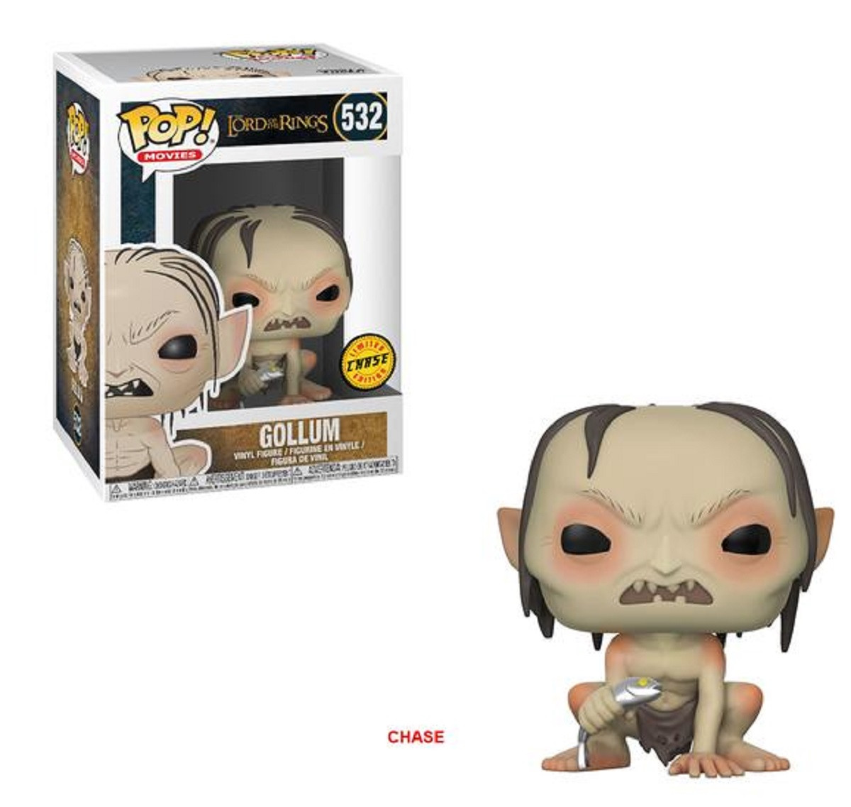 Funko Pop! Movies Lord of the Rings Hobbit Gollum Vinyl Figure Chase