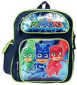 "PJ Masks 12"" Inch Backpack -Navy Blue and Neon Green"