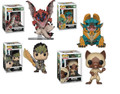 Funko Pop! Games Monster Hunter Zinogre, Rathalos, Felyne, Hunter Vinyl Figures Bundle