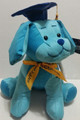 "Graduation Plush Toy Gift - 10.5"" Blue Dog"