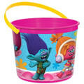 Trolls Plastic Favor Bucket Container ( 1pc )