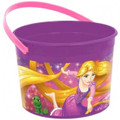Disney Tangled Rapunzel Plastic Favor Bucket Container ( 1pc )