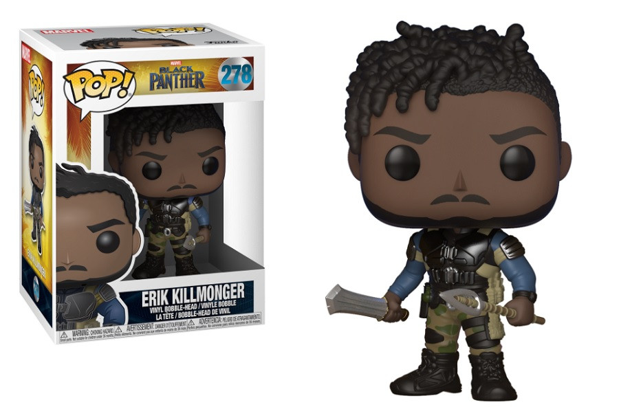 Funko Pop! Marvel Black Panther Erik Killmonger Vinyl Figure #278