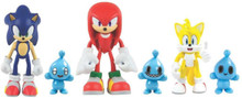 Sonic the Hedgehog - Sonic, Knuckles, Tails with Chao Pets - 3 Inch - Action Figures with Accessory