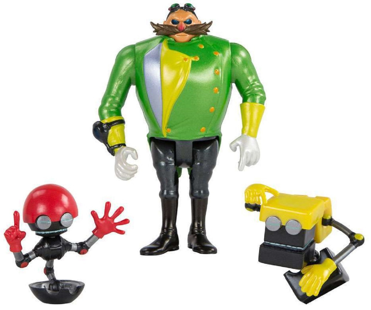 Sonic the Hedgehog - Action Figures - Orbot, Parallel Universe Villian, Cubot - 3 Inch Diorama - Villian Edition