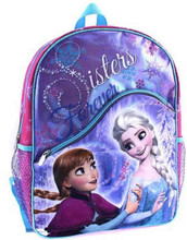 Backpack - Frozen - Large 16 Inch - Girls - Sisters Forever