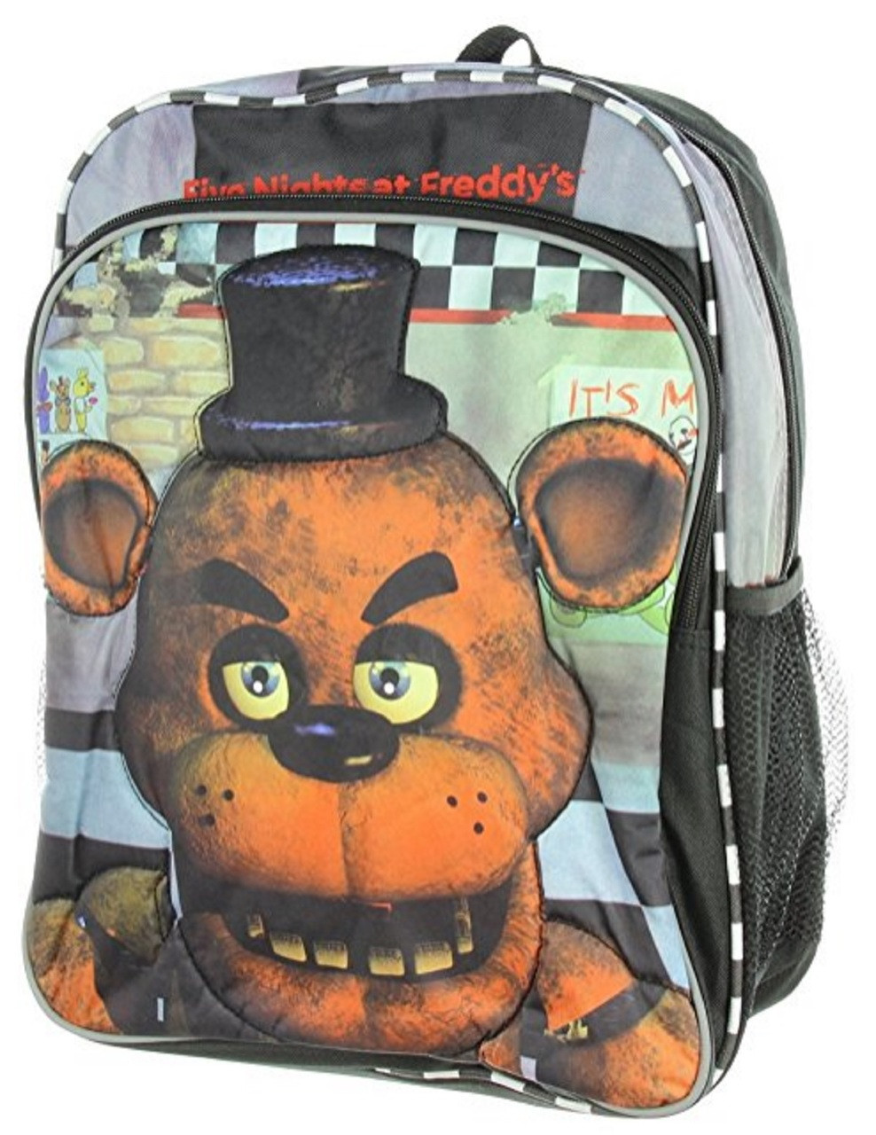Five Nights at Freddy's - Large 16 Inch - Backpack - Checkered - Boys