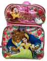 Beauty and the Beast - Large 16 Inch - Backpack - Girls