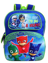 PJ Masks - Large 16 Inch - Backpack - Boys - 3D - Its Time to be a Hero