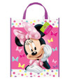 Candy Bags - Minnie Mouse - Large Tote - 13 Inches - Plastic - 12pcs