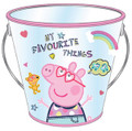 Party Favor Pails - Peppa Pig - Collectible Plastic Pail - Favorite Things