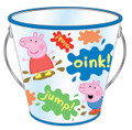 Party Favor Pails - Peppa Pig - Collectible Plastic Pail - Oink