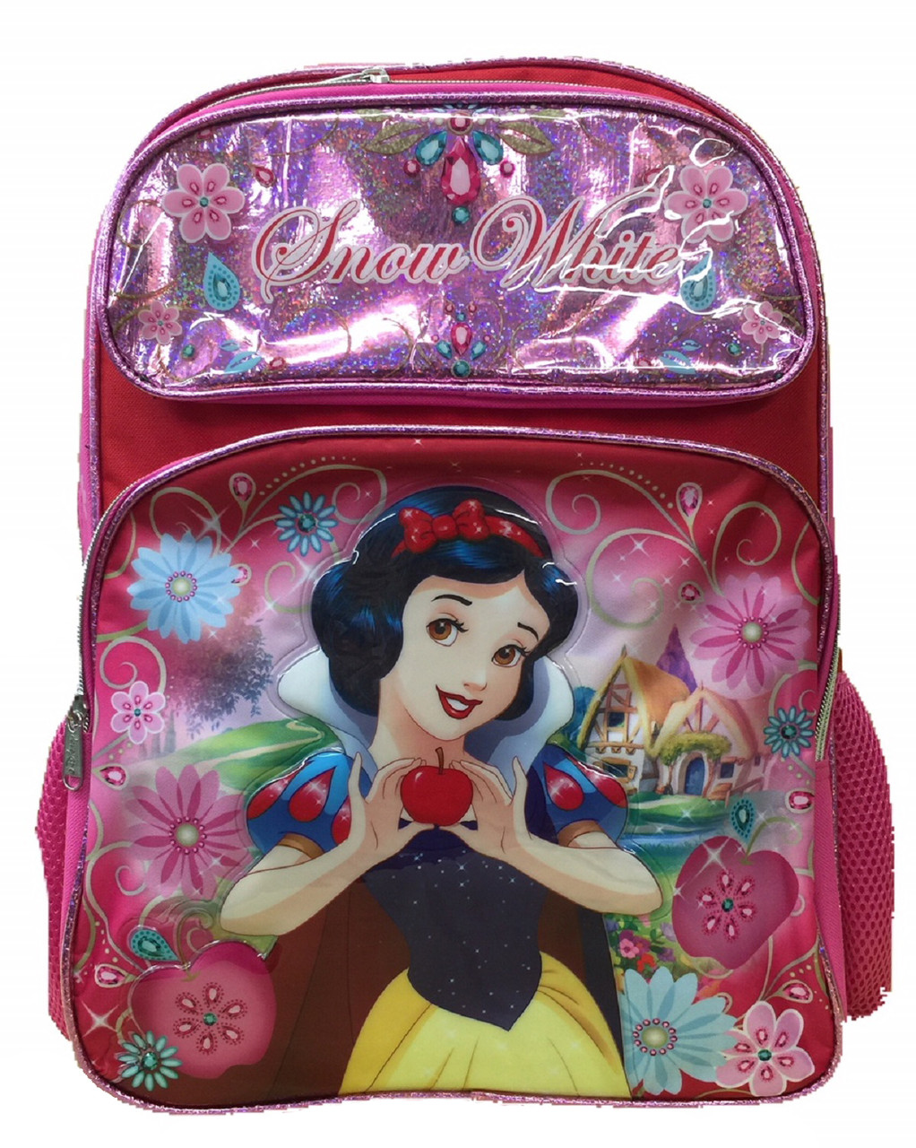 Snow White Large 16 Inch Backpack Pink