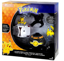 Action Figure Toy - Pokemon - Abra VS Pikachu - Ultimate-Throw & Pop - Poke Ball - Battle - Set