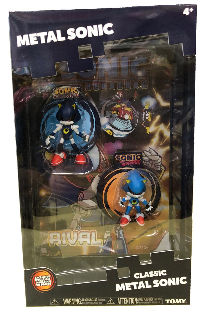 Action Figure Toys - Sonic the Hedgehog - Metal Sonic - 2pk w Comic Book
