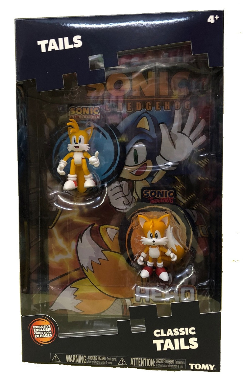 Action Figure Toys - Sonic the Hedgehog - Tails - 2pk w Comic Book