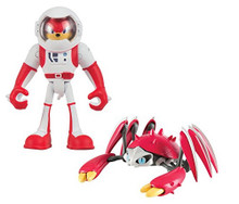 Action Figure Toy - Sonic-Boom - Knuckles + Crabmeat - Spacesuit - Plastic- 3 Inch