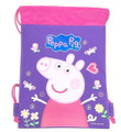 Party Favors - Peppa Pig - Drawstring Bag - Purple