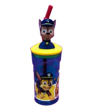 Drink Bottle - Paw Patrol - Molded 3D Head - Chase