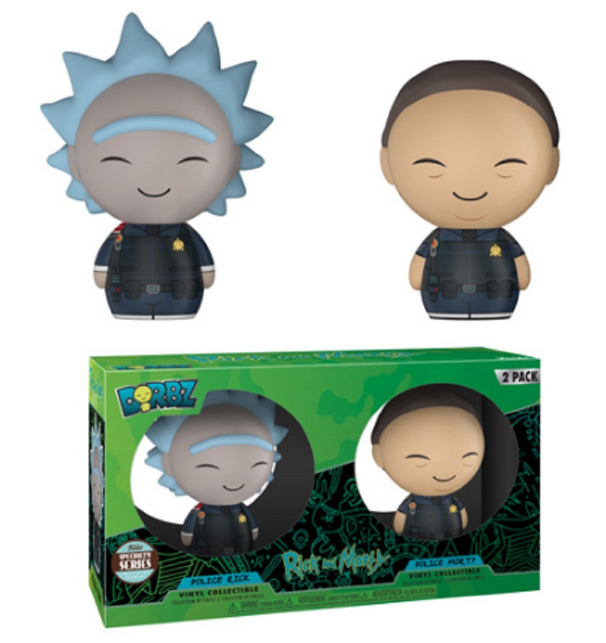 Funko Dorbz: Rick and Morty - Police Rick and Morty (2-pack) (Specialty Series)