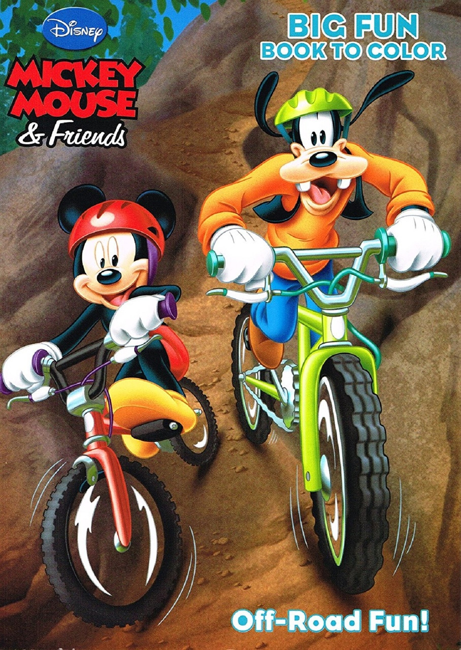 Coloring Book - Mickey Mouse - Party Favors - 96 Pages - Off-Road Fun!