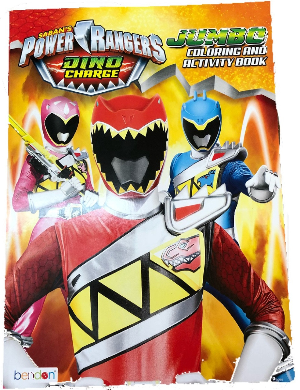 Coloring Book - Power Rangers - Party Favors - 96 Pages - Dino Charge