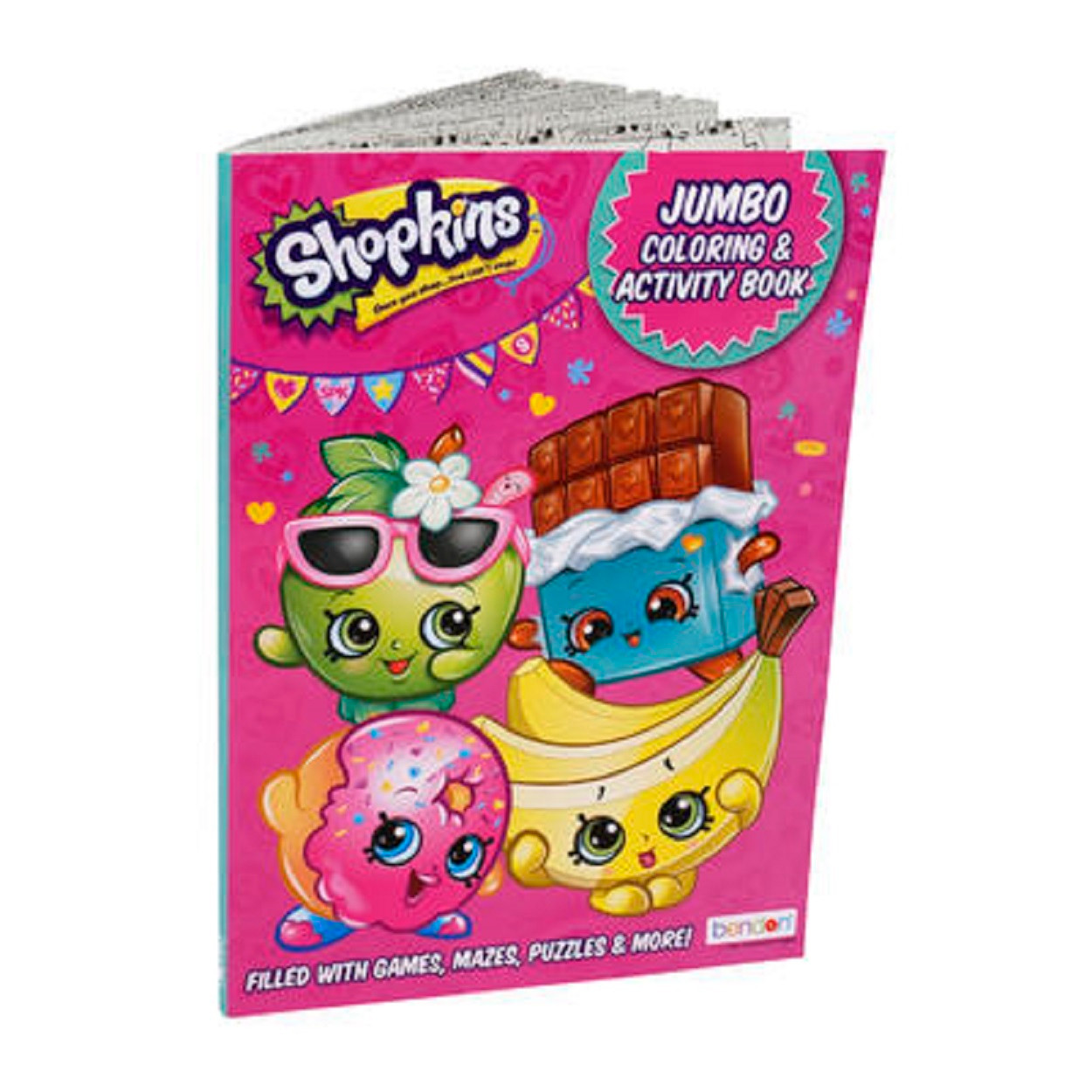 Coloring Book - Shopkins - Party Favors - 96 Pages - All Pink