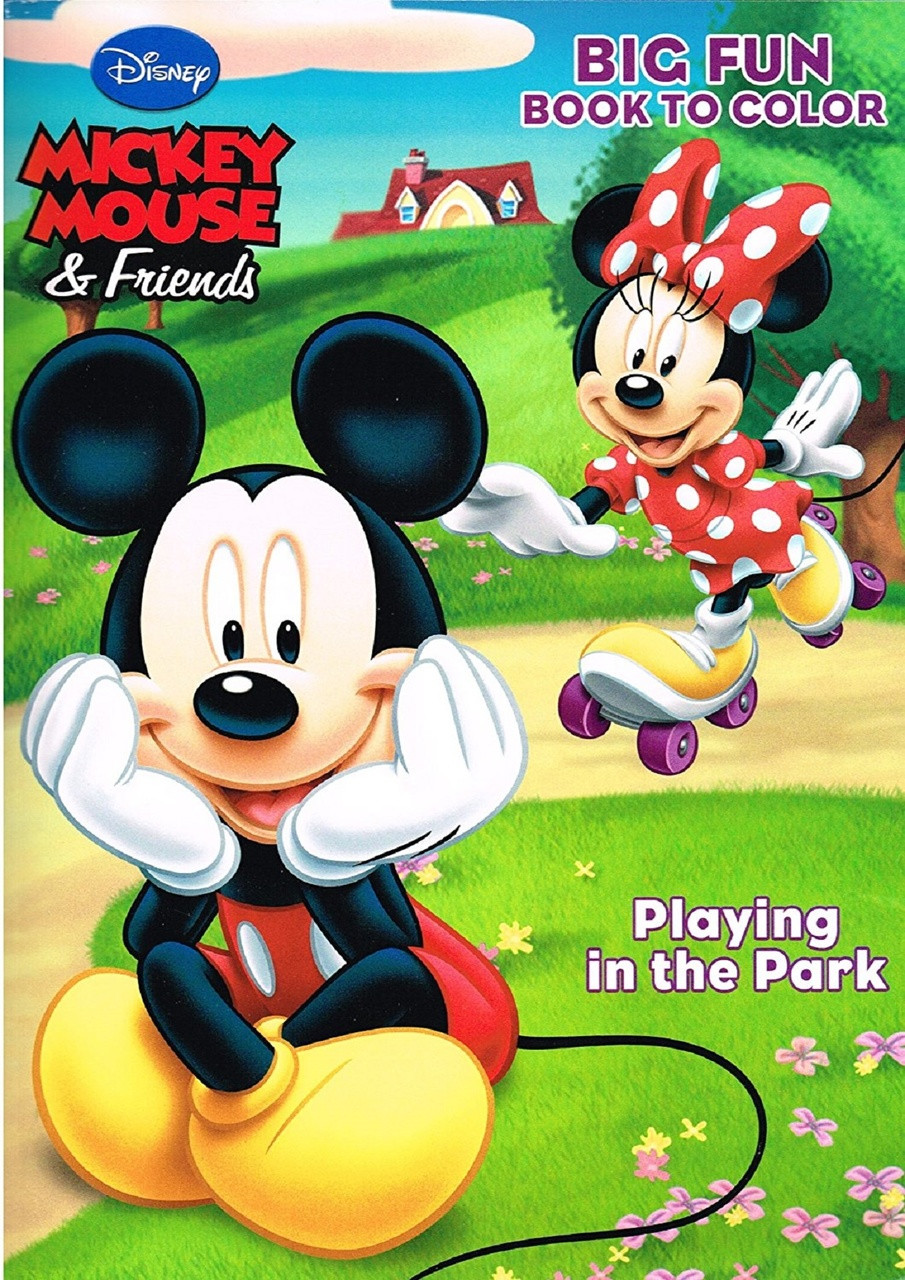 Coloring Book - Mickey Mouse - Party Favors - 96 Pages - Playing in the Park