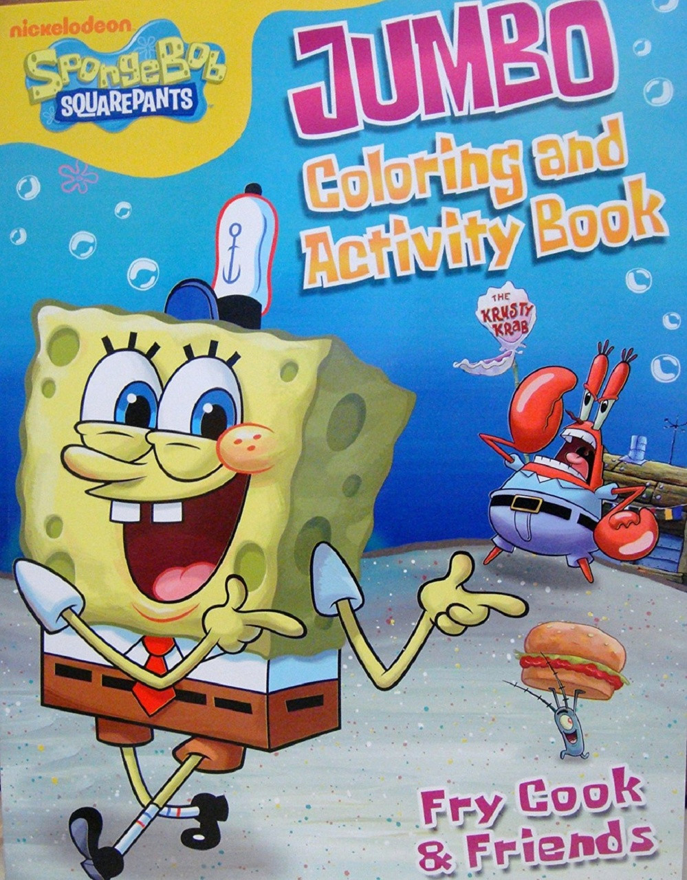 Coloring Book - Spongebob Squarepants - Party Favors - 96 Pages - Fry Cook and Friends