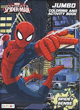 Coloring Book - Spiderman - Party Favors - 96 Pages - Spidey Sense