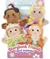 Storybook Friends Hand Puppets (Set of 4) - Princess, Fairy, Mermaid, and Ballerina