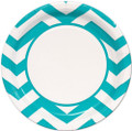 "Caribbean Teal 9"" Inch Lunch Paper Plate"