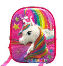 Backpack - Unicorn - Small 12 Inch - Toddler - Pink - 3D