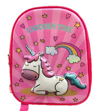 Backpack - Unicorn - Small 12 Inch - Toddler - Pink - 3D - Unicorn Time