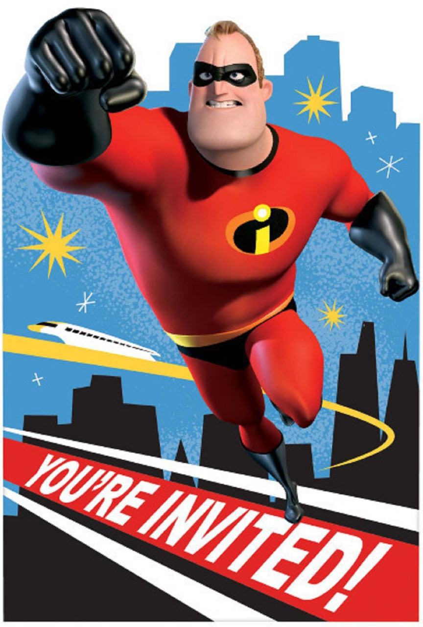 Party Supplies - Incredibles - Invitations - 8ct