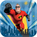 Party Supplies - Incredibles - Plates - 7 inch - Dessert