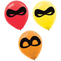 Party Supplies - Incredibles - Balloons - 12 Inch Latex - 6ct