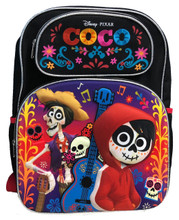 Backpack - COCO - Large 16 Inches - Black - Back
