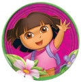 Dora The Explorer Large Round 9 Inch Plates