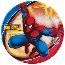 Spider-Man Large 9 Inch Round Dinner Plates (8ct)