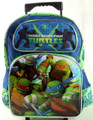 "Teenage Mutant NInja Turtles Large 16"" Cloth Backpack With Wheels - Tough Guys"