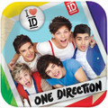 One Direction Small 7 Inch Square Dessert Plates (8ct)