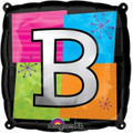 Letter Balloons - B - 18 Inch - Square